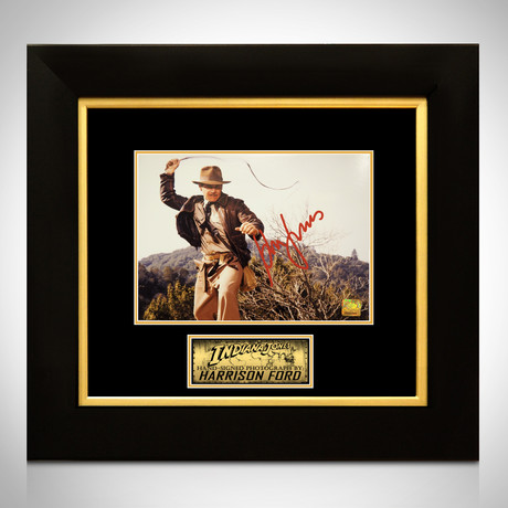 Indiana Jones // Harrison Ford Signed Photo // Custom Frame