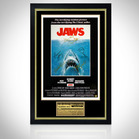 Jaws // Cast Signed Poster // Custom Frame