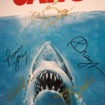 Jaws // Cast Signed Poster // Custom Frame