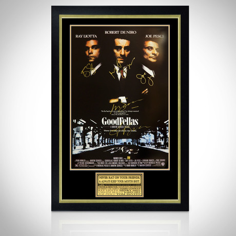 Goodfellas // Cast Signed Poster // Custom Frame