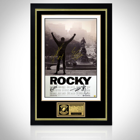 Rocky // Cast Signed Poster // Custom Frame