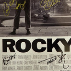 Rocky // Cast Signed Poster // Custom Frame
