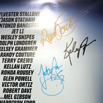 The Expendables 3 // Cast Signed Poster // Custom Frame