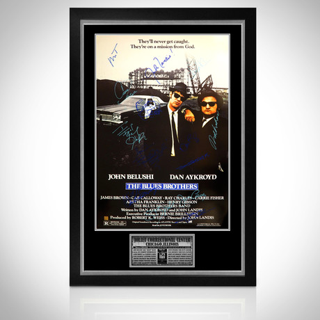 Blues Brothers // Cast Signed Poster // Custom Frame