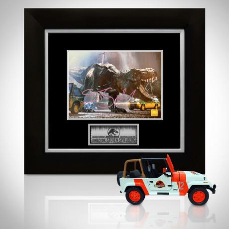 Jurassic Park // Steven Spielberg Signed Memorabilia (Signed Jeep Wrangler Custom Display)