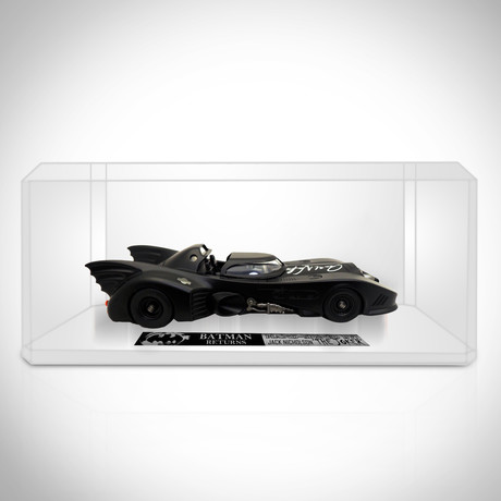 Batman Returns // Jack Nicholson Signed Die-Cast Batmobile// Custom Display