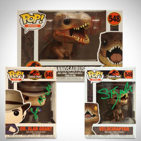 Jurassic Park // Sam Neill + Steven Spielberg Signed Various Pops (Sam Neill Signed Dr. Grant Pop)