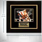Rocky // Sylvester Stallone Signed Photo // Custom Frame