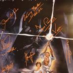 A New Hope // Cast Signed Poster // Custom Frame