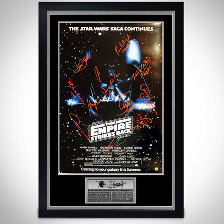 Empire Strikes Back // Cast Signed Poster // Custom Frame