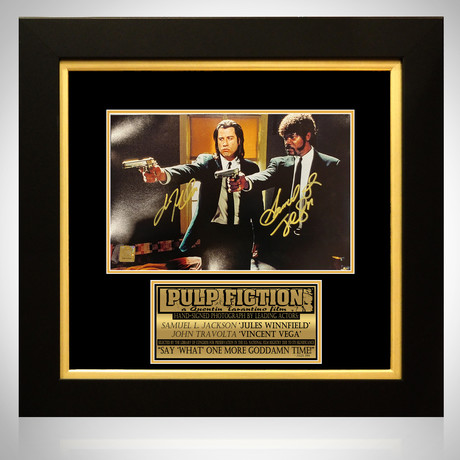 Pulp Fiction // John Travolta + Samuel L. Jackson Signed Photo // Custom Frame