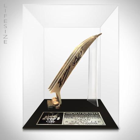 Wolverine Claws // Stan Lee + Hugh Jackman Signed // Custom Museum Display
