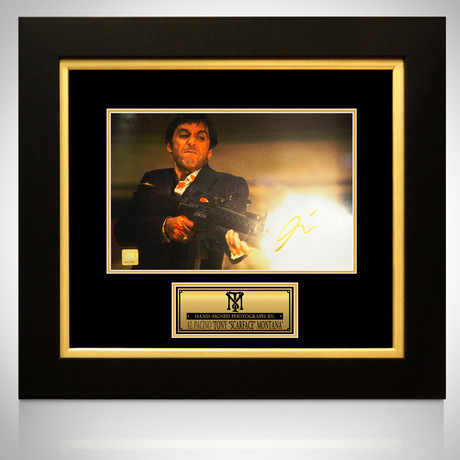 Scarface // Al Pacino Signed Photo // Custom Frame