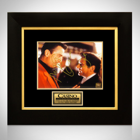 Casino // Robert De Niro + Joe Pesci Signed Photo // Custom Frame