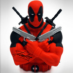 Deadpool // Stan Lee Signed // Bust Bank Limited Edition Statue