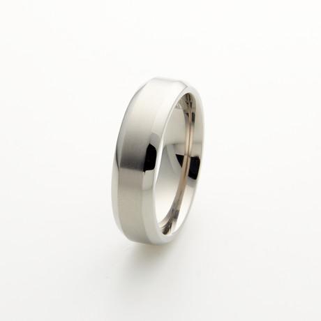 Edward Mirell Titanium Beveled Band // 7mm