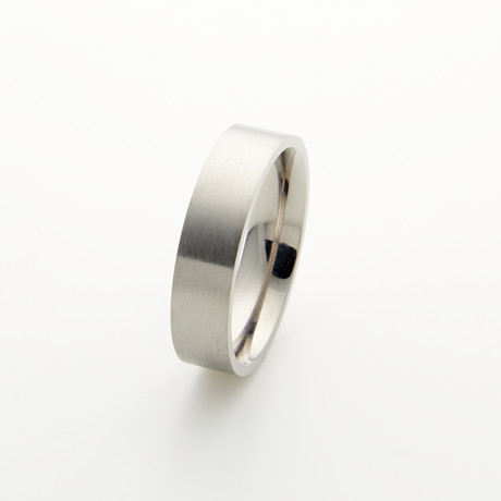 Titanium Flat Brushed Band // 6mm