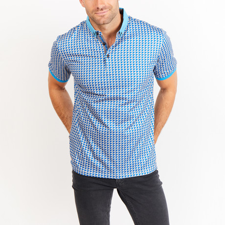 Grant Polo // Blue Gray Print (S)