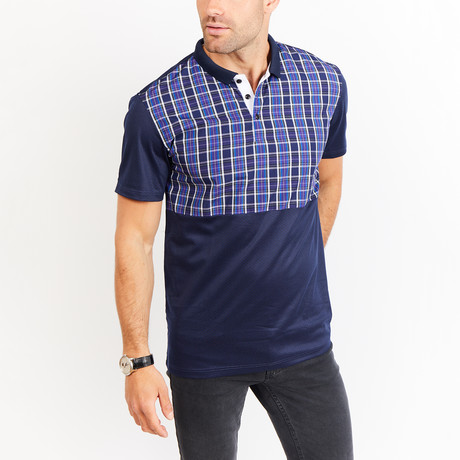 Josiah Polo // Navy Multicolor (S)