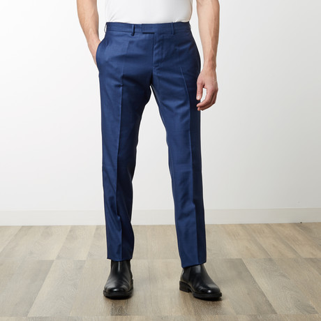 Solid Textured Monaco Pant // Blue