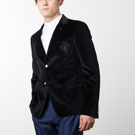 Solid Soft Velvet Jacket // Black