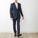 Window Pane Signoria Suit // Blue + Red (Euro: 54)