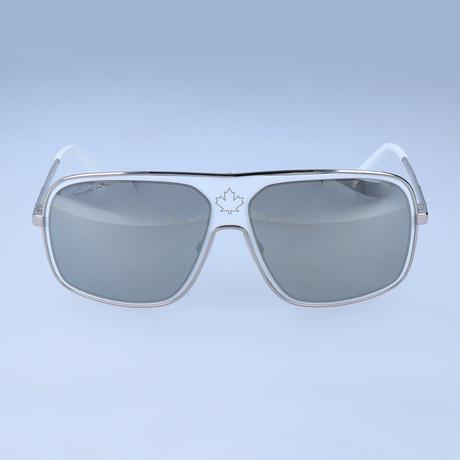 Abbott Sunglasses // White + Silver