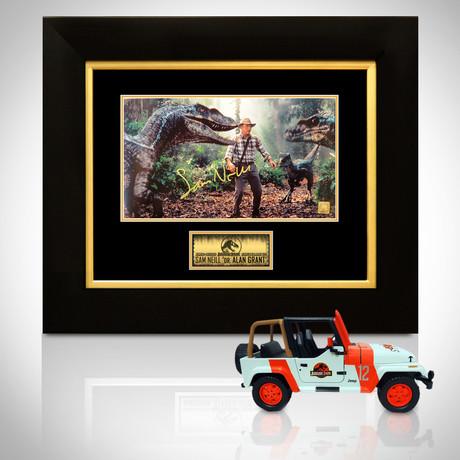 Jurassic Park // Sam Neill Signed Memorabilia (Signed Jeep Wrangler Custom Display Only)
