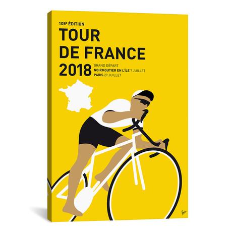 """Tour de France 2018 Minimal Poster // Chungkong (26""""W x 40""""H x 1.5""""D)"""