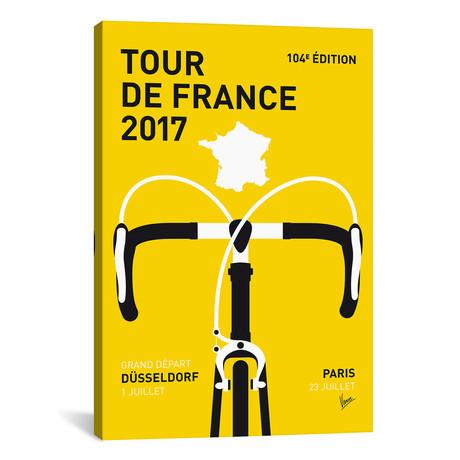 """Tour de France 2017 Minimal Poster // Chungkong (26""""W x 40""""H x 1.5""""D)"""