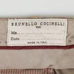 Cotton Blend Single Pleat Casual Pants // Brown (44)