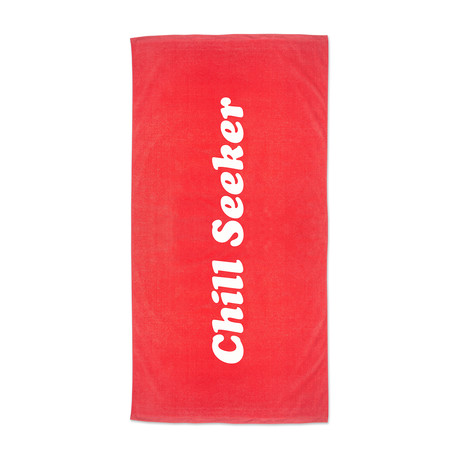 Seeker Beach Towel // Red