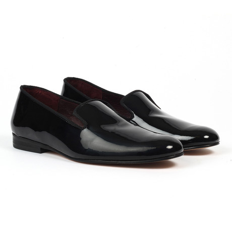 Patent Leather Slip-On Loafers // Black Patent (US: 6)