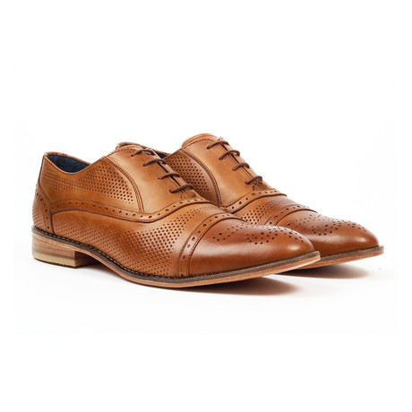 Fashion Cap Toe Oxford Dress Shoes // Tan (US: 6)