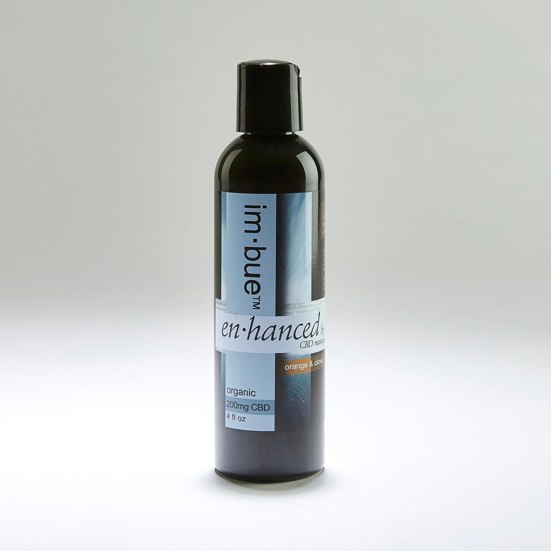En·Hanced Premium CBD Massage Oil // Orange + Clove - im·bue