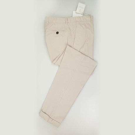 Cotton Blend Casual Pants // Khaki