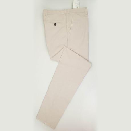 Cotton Blend Casual Pants // Beige (Euro: 50)