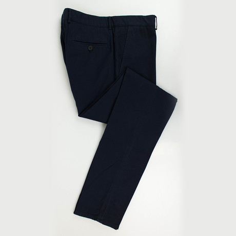 Cotton Blend Casual Pants // Blue (Euro: 50)
