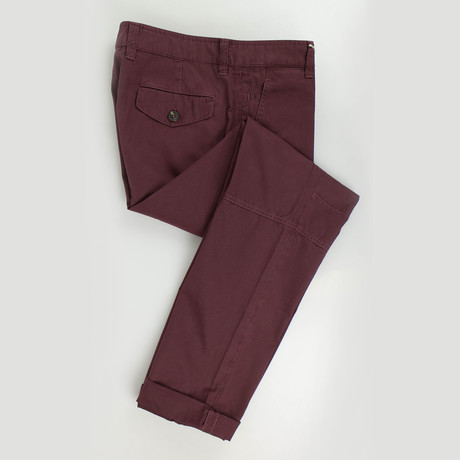 Cotton Casual Pants // Burgundy