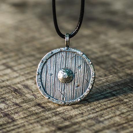 Viking Shields Collection // Big Viking Shield Pendant // Silver