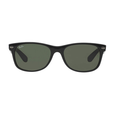 New Wayfarer // Black + Crystal Green (52mm)