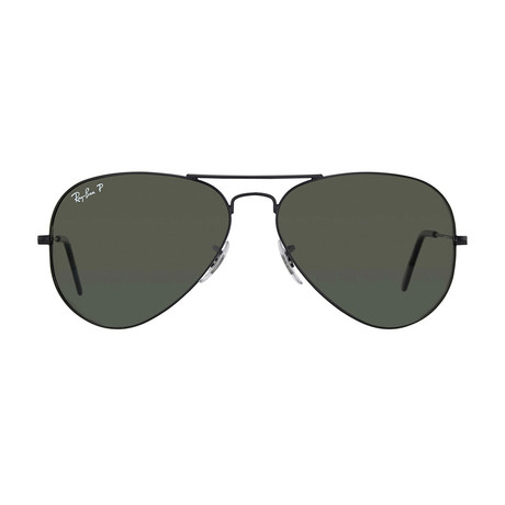 Ray-Ban // Aviator // Black + G15 // Polarized