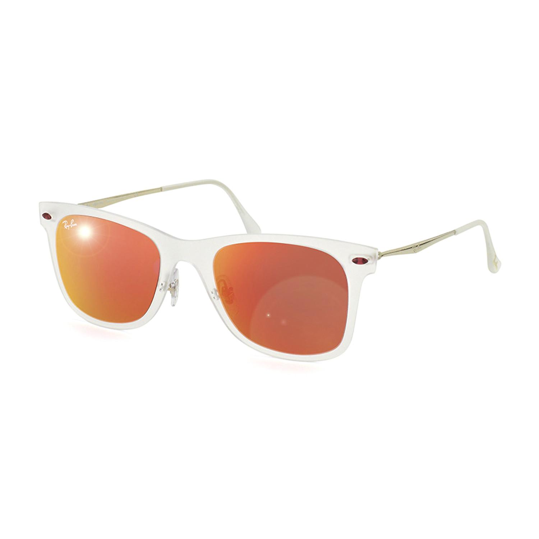 12a8a63f5 E141417b07209dbab1b253b97da269ee medium · Wayfarer Lightray // Matte  Transparent + Brown Mirror Orange