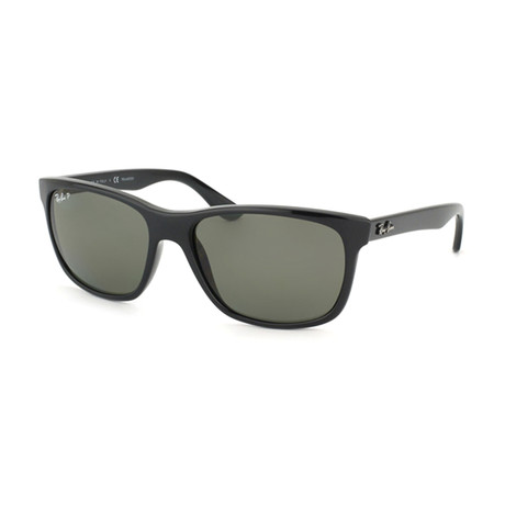 Nylon Rectangle // Black + Green // Polarized
