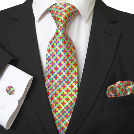 3 Piece Matching Neck Tie Set + Gift Box // Multi Color