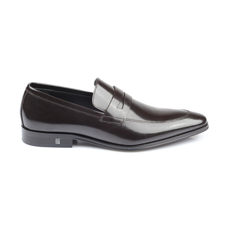 Patent Penny Loafer // Brown
