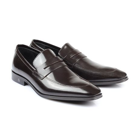 Patent Penny Loafer // Brown (Euro: 39)