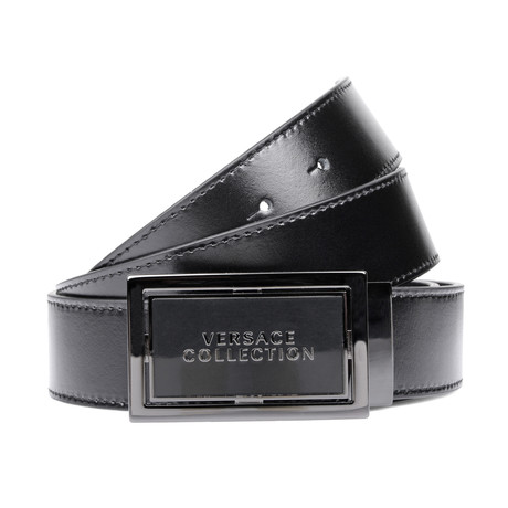 Rectangle Buckle Belt // Black (Black)