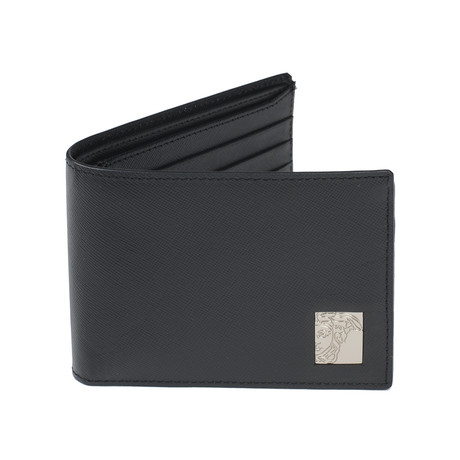 Textured Bi-Fold Wallet // Black