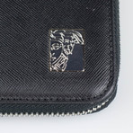 Large Zip-Around Wallet // Black